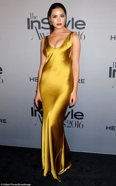 Magic in metallic: Olivia Culpo positively glided her way down the red carpet at the annual InStyle Awards in Los Angeles, California, on Monday night