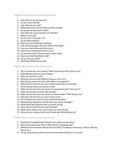 simple conversation questions
