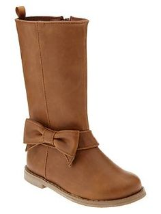 Bow riding boots | Gap  possible boots for flower girl outfits..