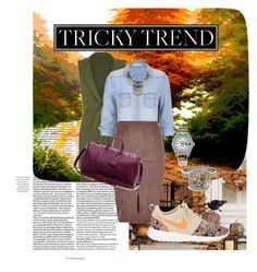 """Tricky Trends"" by gen610 on Polyvore featuring maurices, River Island, NIKE, Sole Society, Rolex, Allurez, StreetStyle, fashionista, fashionset and fallfashion"