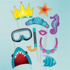 Photo Booth; Under The Sea Photo Booth Props (10pk) More
