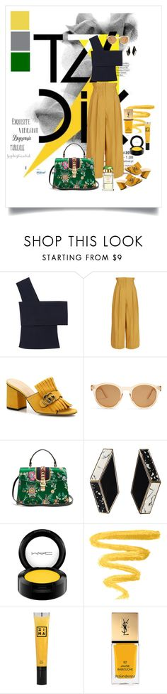 """""""Water Lily Sun ☀️"""" by sherrie-mock ❤ liked on Polyvore featuring Rosetta Getty, Sonia Rykiel, Gucci, Le Specs, 3ina, Yves Saint Laurent and Estée Lauder"""