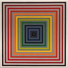 """ ALL SQUARES ARE COOL SQUARES… By Frank Stella Source of pic: pinterest.com """