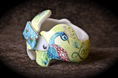 Peacock Cranial Band for Larken DOC Band  https://www.facebook.com/pages/Cranial-BandsMurals-by-Leigh-Gibson/153150921414230