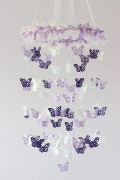 Baby Girl Nursery Decor Purple Lavender by LoveBugLullabies