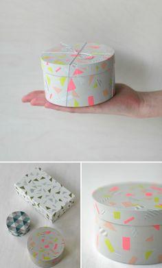 washi tape gift boxes