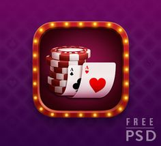 FREE PSD POKER APP ICON