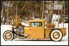 1931 Golden Ford Pickup #Cars #Speed #HotRod