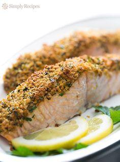 Panko-crusted baked salmon! On SimplyRecipes.com