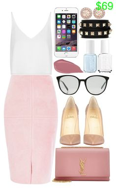 Yves Saint Laurent , Céline and Christian Louboutin by camrzkn on Polyvore featuring polyvore fashion style Topshop River Island Christian Louboutin Yves Saint Laurent Valentino Givenchy CÉLINE Essie clothing
