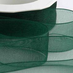 Italian Options - Organza Woven Edge Ribbon x 20 Metres Dark Green Make Your Own Wedding Invitations, One Eyed Cat, Burlap Lace, Organza Ribbon, Green Ribbon, Headbands, Dark, Special Delivery, Royal Mail