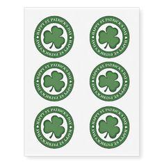 Happy Happy Day St Patricks Day Tattoos #stpatricksday #tattoos #shamrock #paddysday