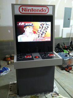 Just finished my Nintendo themed arcade cabinet! - Imgur