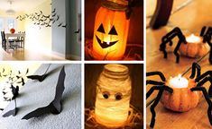 diy for the Halloween style pumpkin and bat mouse Halloween Fashion, Halloween Party, Decoration, Pumpkin Carving, Style, Candles, Decorating, Dekorasyon, Deko