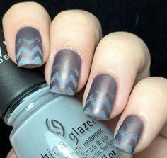 Nail Polish Wars: Ghostly Chevrons