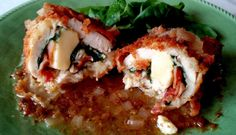 Gruyere, Bacon and Chicken Roulades with White Wine Mustard Sauce. I love the nutty, earthy flavor of Gruyere combined with baby spinach, stone ground mustard and bacon in these chicken rolls.