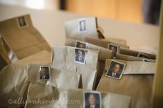 General Conference idea - incentive bags for the kids, find the right Apostle on the bag and open up for goodies inside