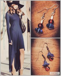 www.spruceandpinejewelry.com  #handmade #northcarolinalove #redwhiteandblue #merica #blueandorange #comfycozy #days #blue #handmadejewelry #earrings