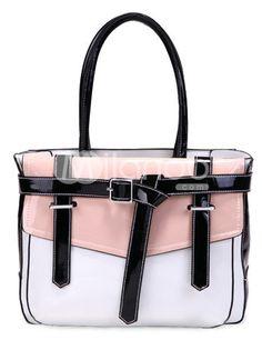 White Fashion Buckle Belt Womens Tote Bag - $36.99