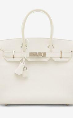 Hermès White Handbag
