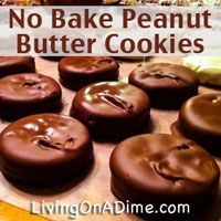 No Bake Peanut Butter Cookie Recipe - Easy Summer Treats No Bake Cookies Recipe Peanut Butter, Easy No Bake Cookies, Peanut Butter Recipes, Easy Cookie Recipes, Yummy Cookies, Baking Recipes, Sweet Recipes, Snack Recipes, Dessert Recipes
