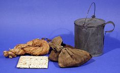 "Provisions Bread, meat, and coffee were the staples of the diet, with beans, rice, or dried vegetables added occasionally. During active campaigning, however, the soldier got little more than the staples unless he foraged. ""Hardtack"" was the bread issued most frequently. The meat, called ""salt horse,"" was salted or pickled beef and pork.Coffee was a staple in the army and was nearly always in good supply.Homespun"" tobacco could either be chewed or cut into small pieces and smoked in a pipe."