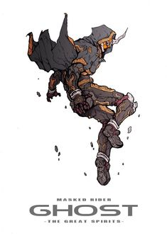 Kamen Rider Ghost Fantasy Character Design, Character Design Inspiration, Character Concept, Character Art, Robot Concept Art, Armor Concept, Cyberpunk Aesthetic, Kamen Rider Series, Sci Fi Characters