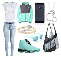 """""""Untitled #21"""" by mblankenship122874 ❤ liked on Polyvore featuring Mode, NIKE, The North Face, Object Collectors Item, Disney und Aéropostale"""