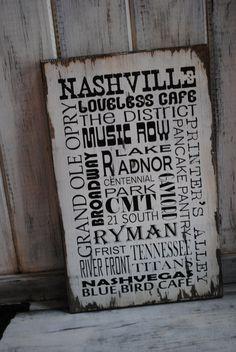 Nashville subway sign by JolieCustomWoodArt on Etsy