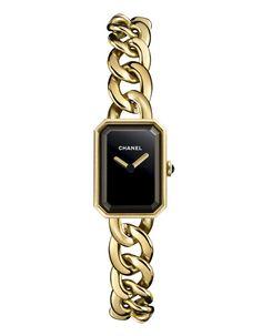 Chanel montre Première bracelet chaîne http://www.vogue.fr/joaillerie/shopping/diaporama/montres-horlogerie-bracelets-en-or/21199/image/1113294#!chanel-montre-premiere-bracelet-chaine