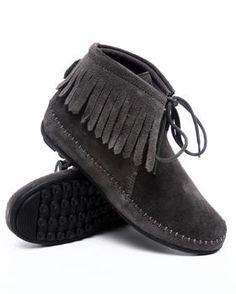 black suede moccasins