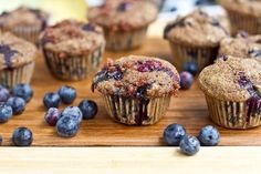 Mini Whole Wheat Blueberry Breakfast Muffins at ohsheglows