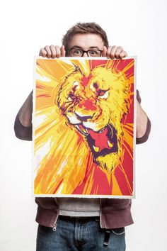 Lion by Andrew Thompson, via Behance