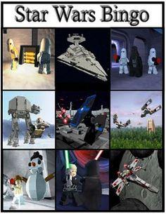 Printable Star Wars bingo game