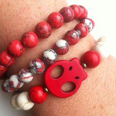 #pulseras #Rojo  www.dlolas.com