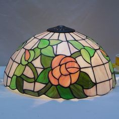 Rose Tiffany Lamp 16S0-114