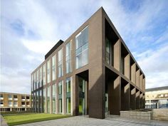 North West: Sir Charles Carter Building, Lancaster University by John McAslan + Partners. Iamge by Hufton Crow Lancaster University, Morecambe, Student House, Brickwork, Award Winner, North West, Facade, Arch, Multi Story Building
