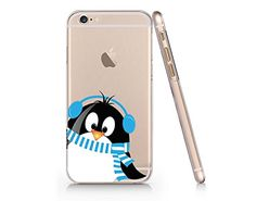 Cute Penguin Merry Christmas Clear Transparent Plastic Phone Case for iphone 6 6s_ SUPERTRAMPshop SUPERTRAMPshop