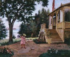 Albert Edelfeltin , Haikon Puutarha 1880