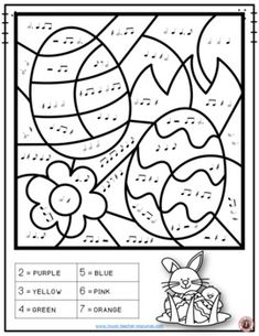 Music lessons   |  Easter Music: 26 Easter Music Coloring Pages   |  #musiceducation