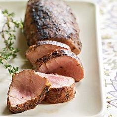 Spice-Rubbed Pork Tenderloin - Allspice, nutmeg, and cinnamon combination often found in cold-weather baked goods accents the savory rub mixture. Turn the pork frequently in the pan so the spices don't burn and grow bitter. The rub also works well with heritage pork like Duroc or Berkshire. If you don't have whole allspice berries, preground allspice will work.