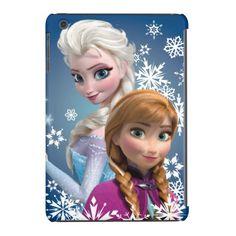 Anna and Elsa with Snowflakes iPad Mini Retina Covers