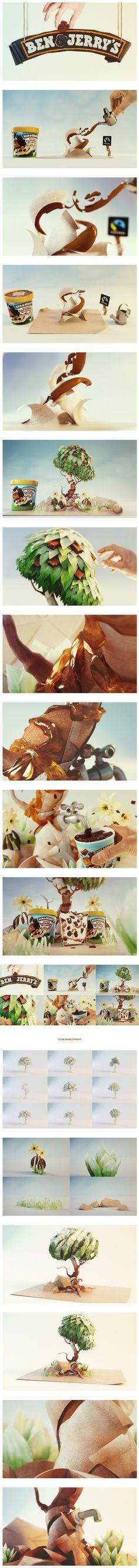 Ben & Jerry's Styleframes  #зеленый #желтый #текстуры