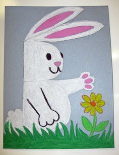 B is for bunny.