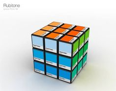 Rubik's Cube Demo Paint Pallet  ||  Ignacio Pilloto came up with a very innovative and fun way to replace the usual Pantone demo paint pallet with this Rubik's Cube. Selecting a suitable color for your room will not only be simple, but fun at the same time!