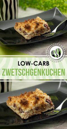 Der Zwetschgenkuchen mit Kokosraspeln ist low-carb, lecker und glutenfrei.