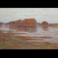 """""""Golden Willow,"""" Arthur Wesley Dow, oil on canvas, 26.3 x 36.3"""", private collection."""