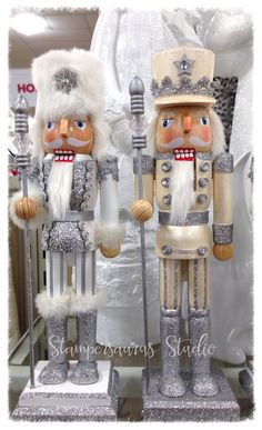 https://flic.kr/p/zN1R73 | White & Champagne Colored Nutcrackers | From Homegoods 2015