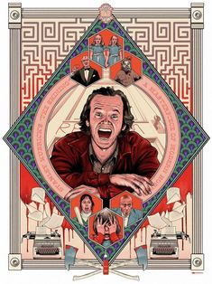 """My tribute to the great Stanley Kubrick's """"The Shining"""". The first poster from my personal project """"One Director Three Movies"""" – a series of posters inspired by three my favorite movies from one director. Horror Movie Posters, Horror Icons, Movie Poster Art, Horror Films, The Shining Poster, Stanley Kubrick The Shining, Montag Motivation, Halloween, Horror Artwork"""