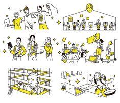 Webデザイン・Webデザイナースクール[INTERNET ACADEMY] パンフレット – SENA DOI Outline Illustration, House Illustration, Illustrations, Digital Illustration, Paris Poster, Cartoon Toys, Collage Design, Simple Doodles, Information Design
